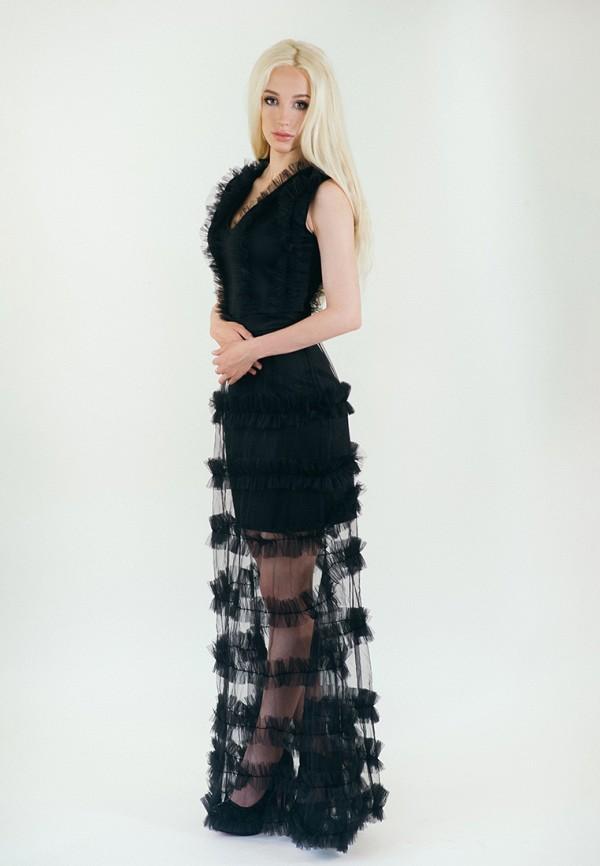 мужское вечерние платье подіум, черное