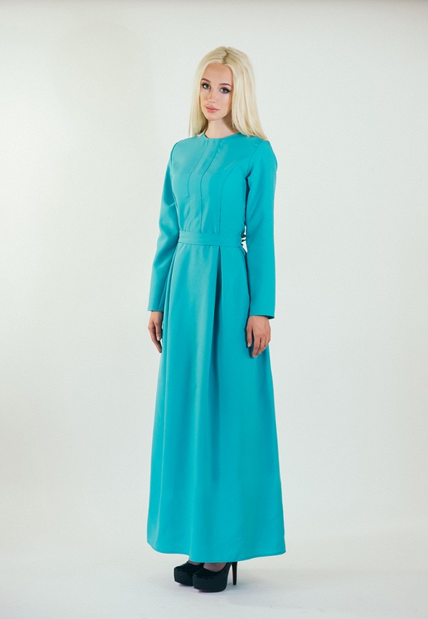 мужское платье макси подіум, бирюзовое