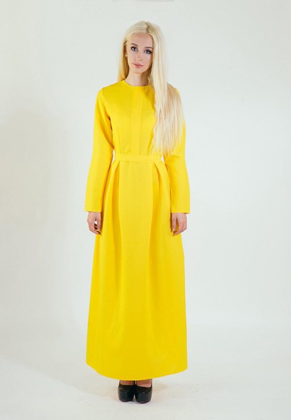 мужское платье макси подіум, желтое