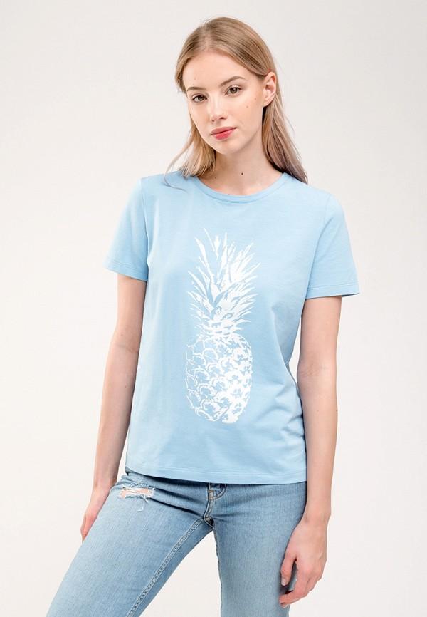 мужская футболка с коротким рукавом gee!, голубая