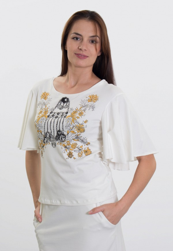 мужская футболка с коротким рукавом anna bask, белая