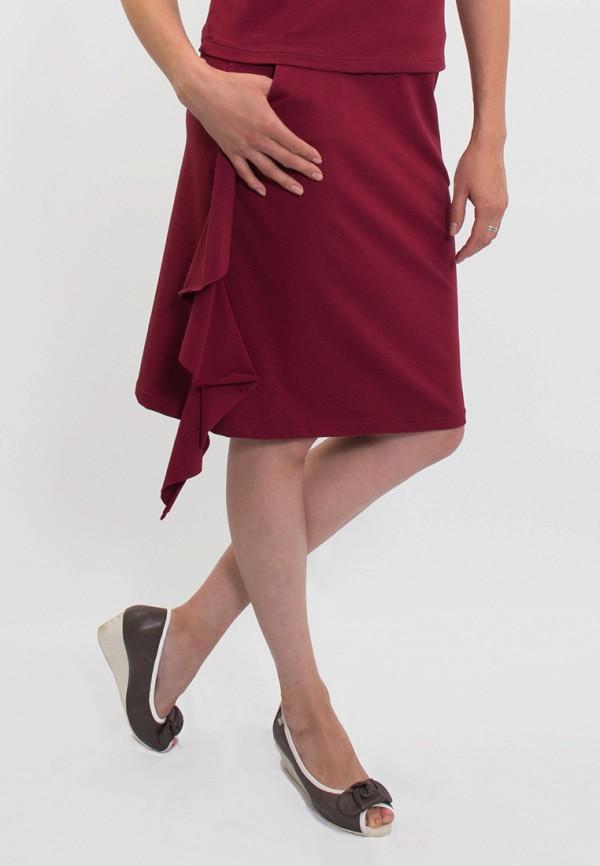 мужская прямые юбка anna bask, бордовая