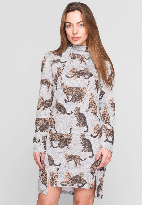 Купить Платье Carica&X-Woyz, mp002xw1adyb, серый, Осень-зима 2017/2018