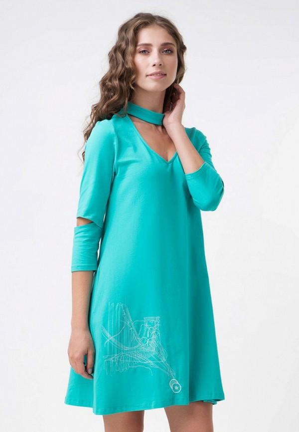 женское повседневные платье ricamare, бирюзовое
