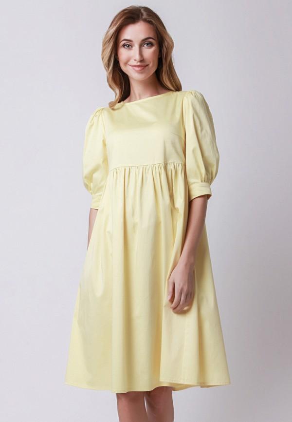 мужское платье миди olga skazkina, желтое