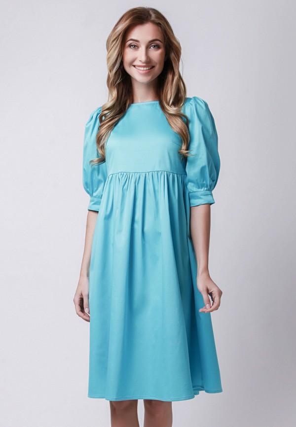 мужское платье миди olga skazkina, голубое