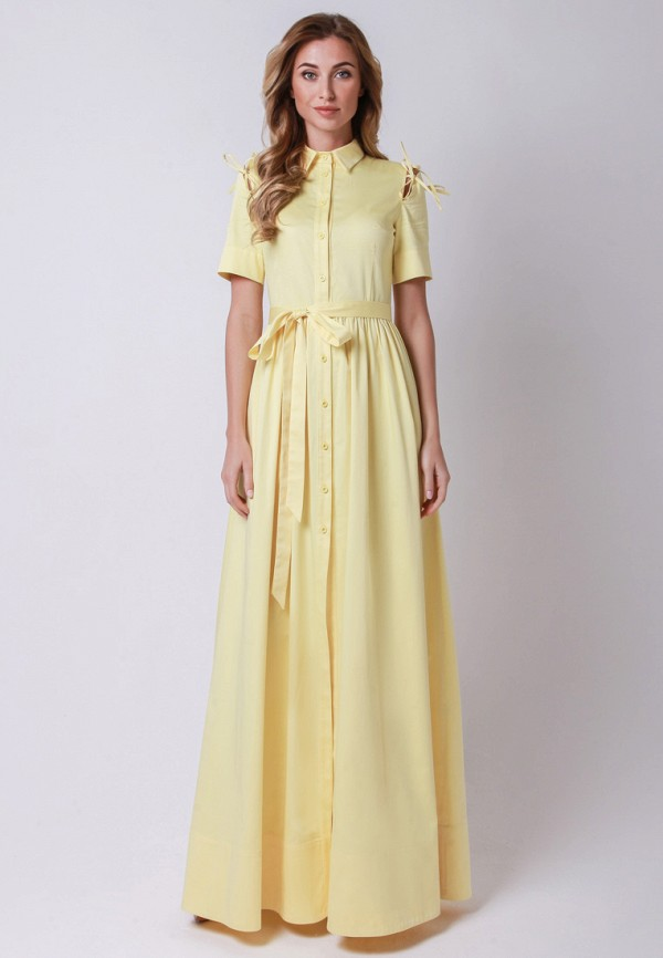 мужское платье макси olga skazkina, желтое