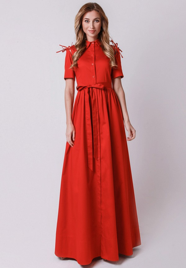 мужское платье макси olga skazkina, красное