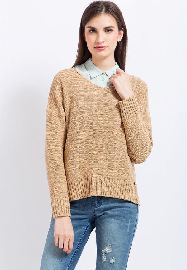 Пуловер Finn Flare, mp002xw1aiyo, бежевый, Осень-зима 2018/2019  - купить со скидкой