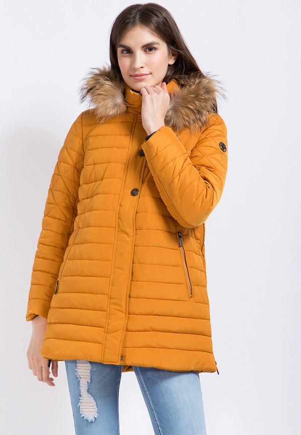 Купить Куртка утепленная Finn Flare, MP002XW1AJ0U, оранжевый, Осень-зима 2017/2018