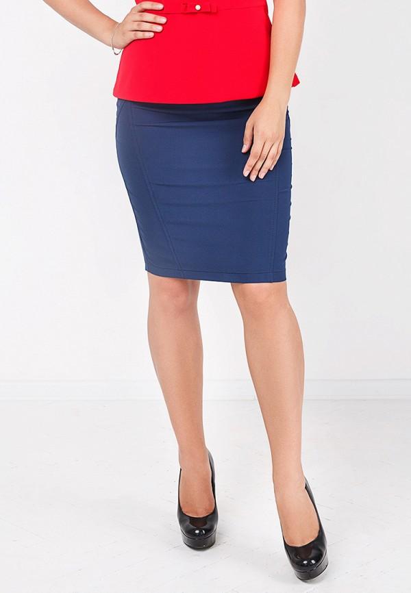 Фото 6 - женскую юбку Zubrytskaya синего цвета