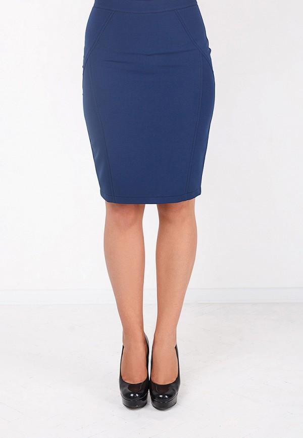 Фото 8 - женскую юбку Zubrytskaya синего цвета