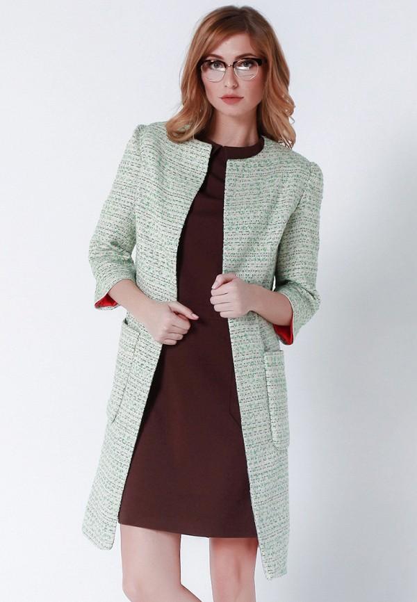 женское пальто olga skazkina, зеленое