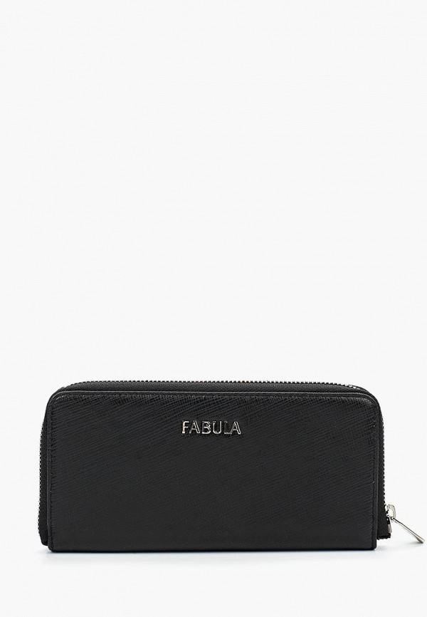 женский кошелёк fabula, черный