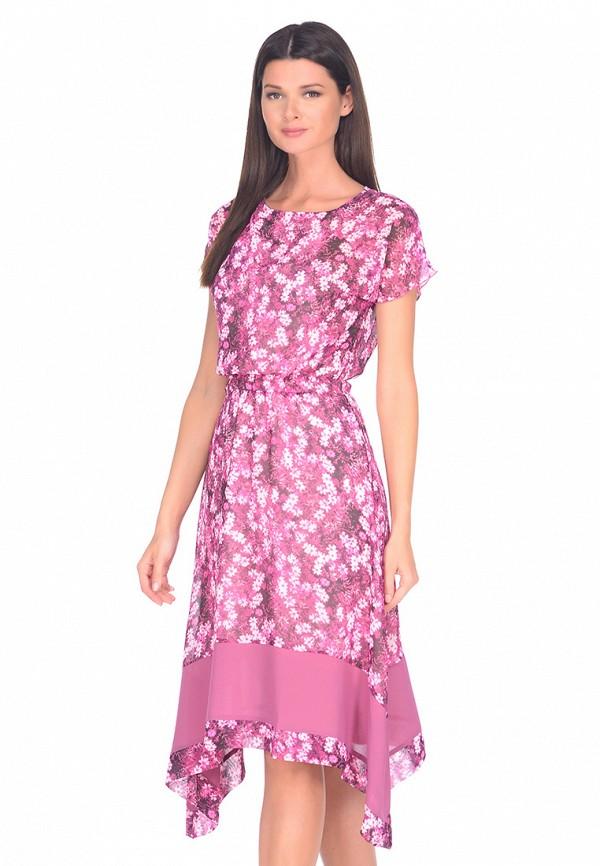 женское платье миди imago, розовое