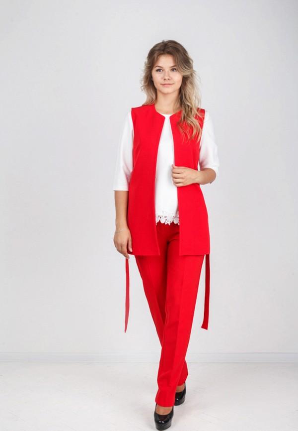 Фото 5 - женский жилет Zubrytskaya красного цвета