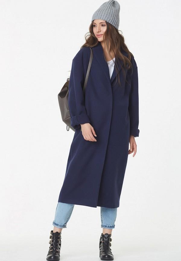 женское пальто fly, синее