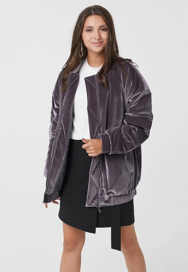 Фото 3 - Куртку утепленная Fly серого цвета