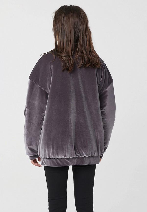 Фото 4 - Куртку утепленная Fly серого цвета
