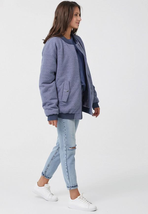 Фото 2 - Куртку утепленная Fly голубого цвета