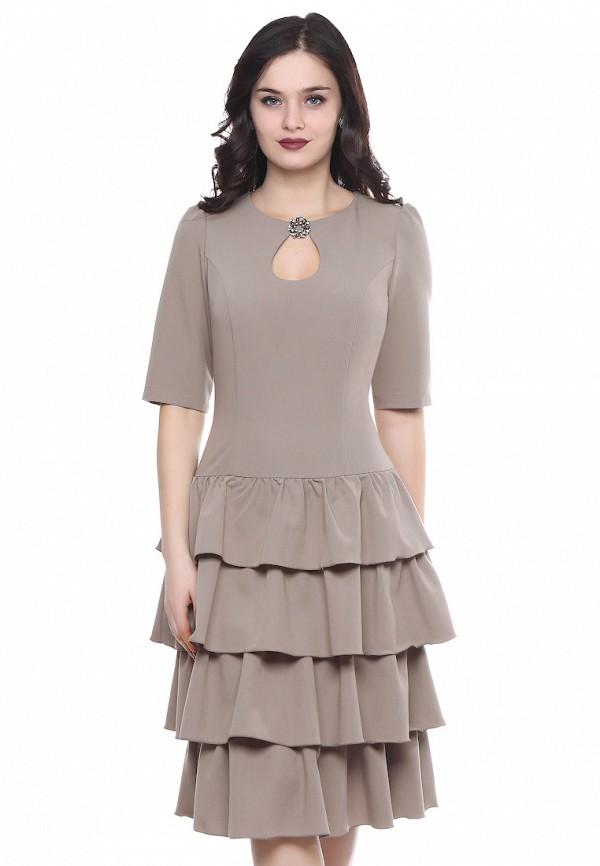 женское платье grey cat, бежевое