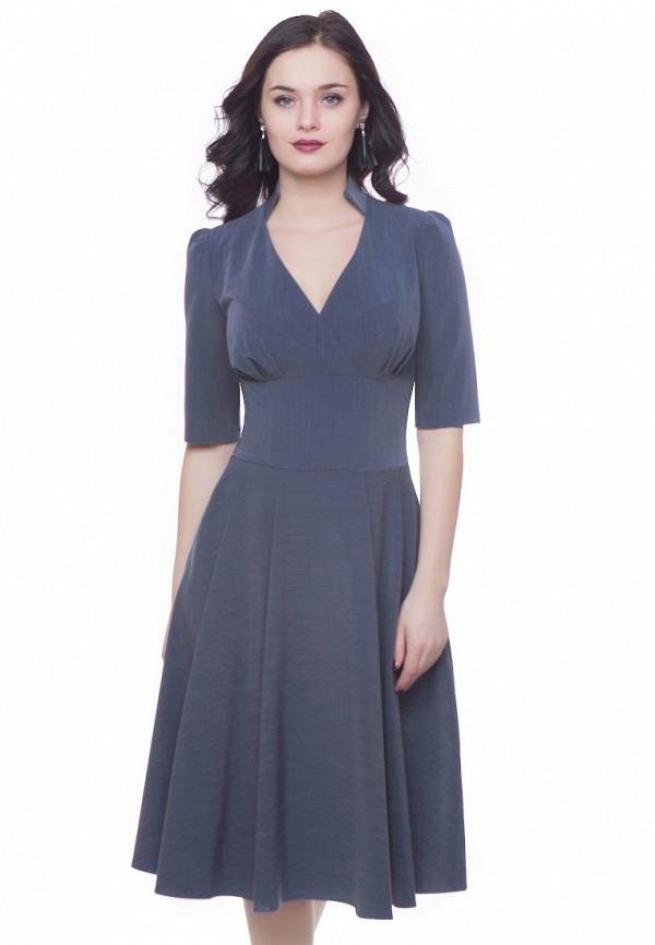 женское платье миди grey cat, синее