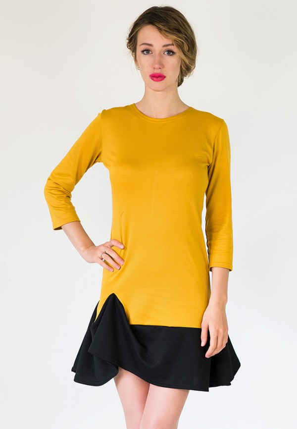 мужское платье подіум, желтое