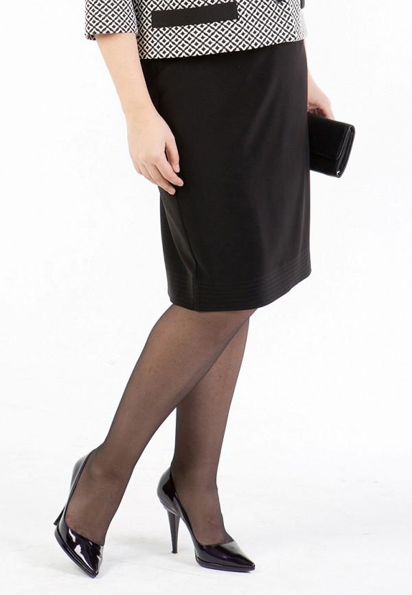 женская юбка luxury plus, черная