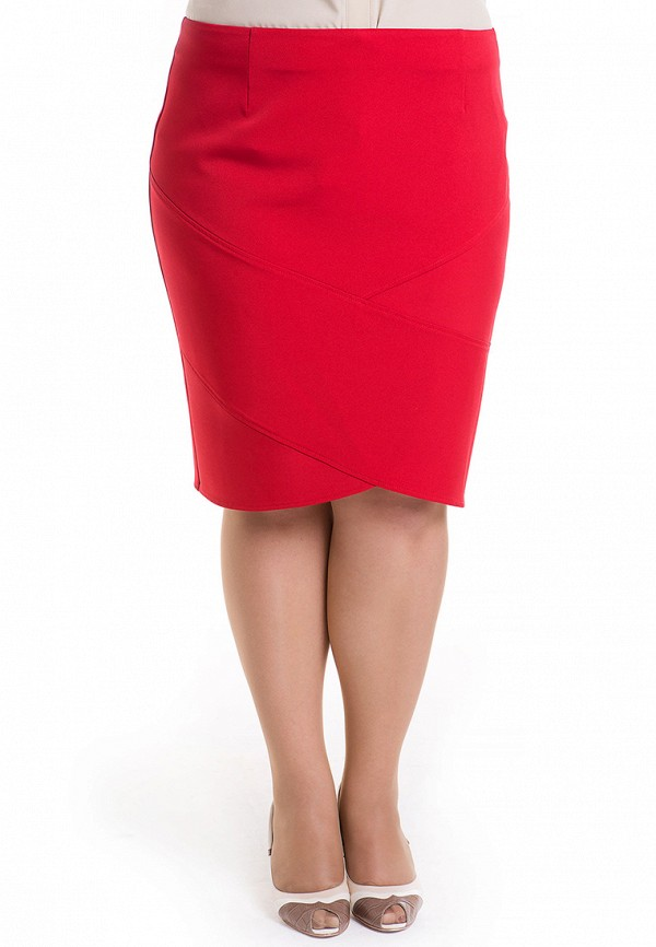 женская юбка luxury plus, красная