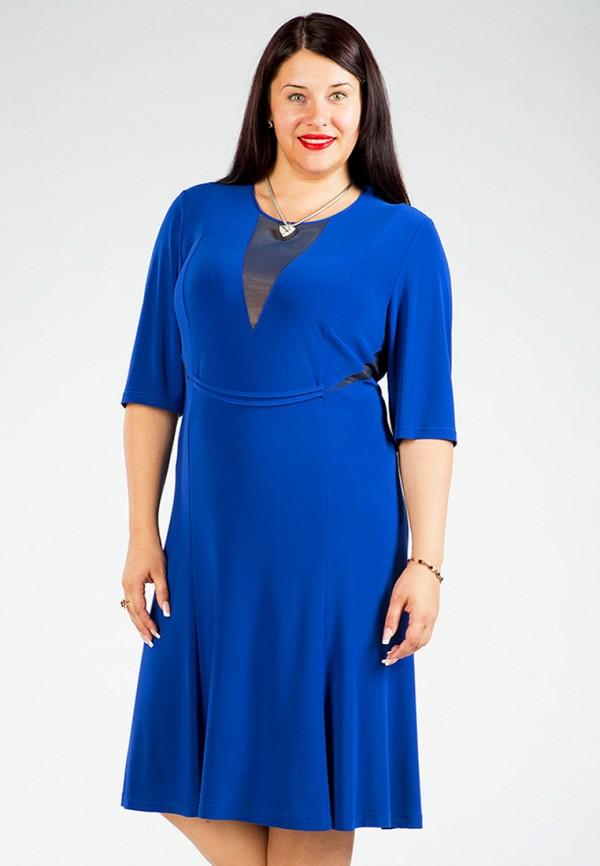 женское платье luxury plus, синее