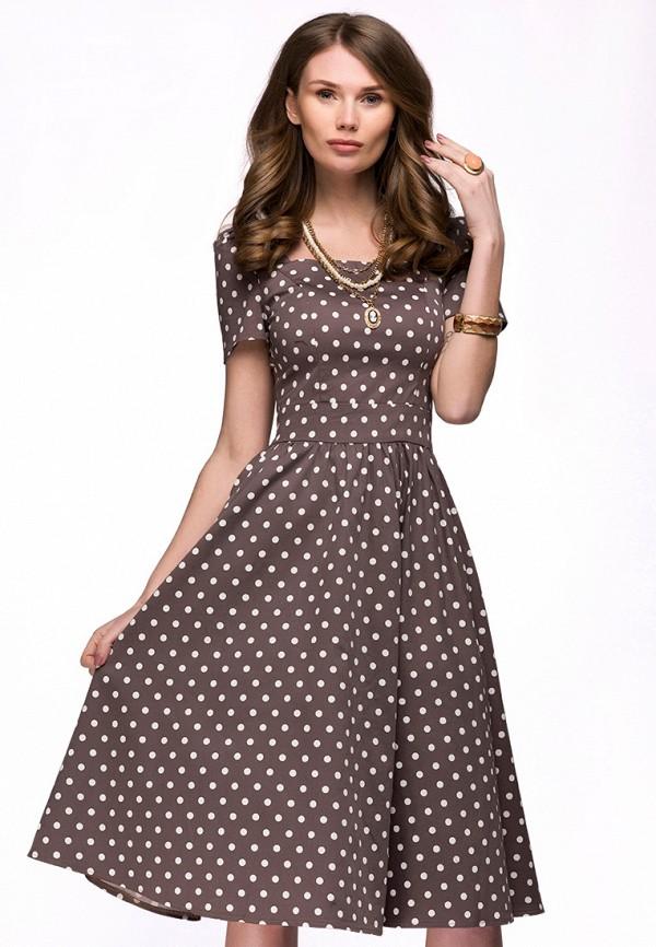 Купить Платье D&M by 1001 dress, mp002xw1apjo, бежевый, Осень-зима 2018/2019