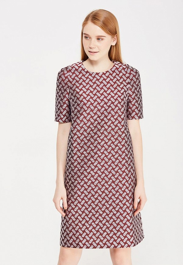 женское повседневные платье imago, бордовое