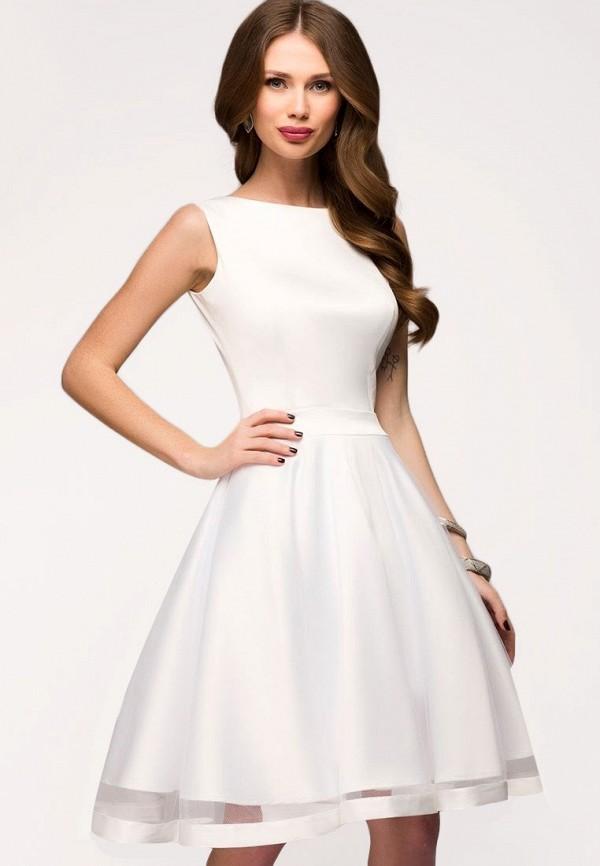 Купить Платье D&M by 1001 dress, mp002xw1apnt, белый, Осень-зима 2018/2019