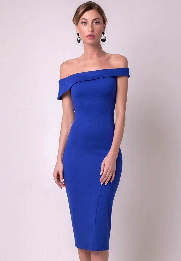 женское вечерние платье olga skazkina, синее