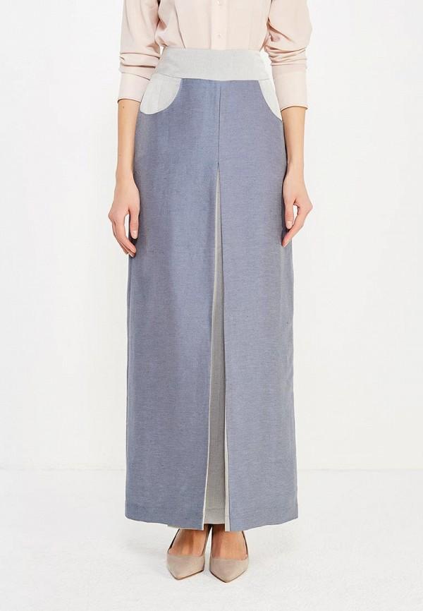 женская прямые юбка sahera rahmani, голубая