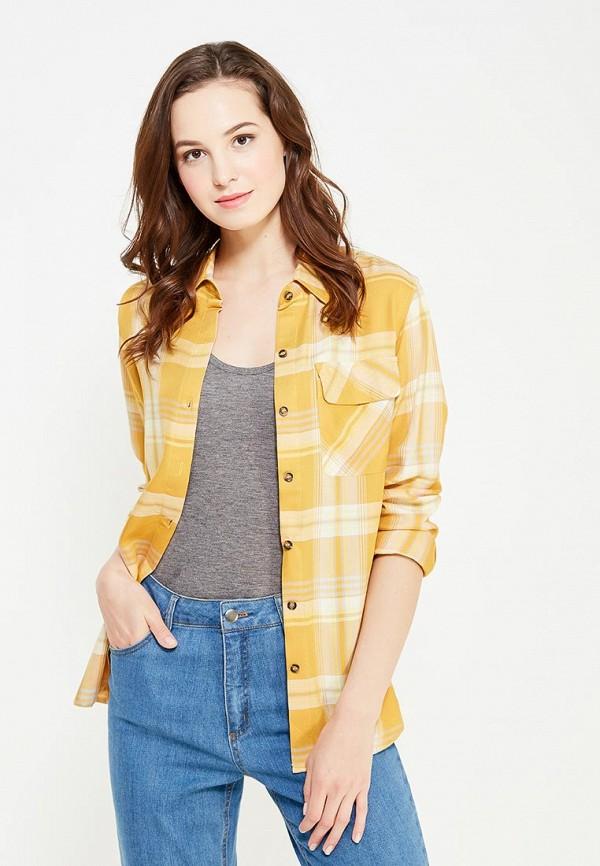 женская рубашка с длинным рукавом cocos, желтая