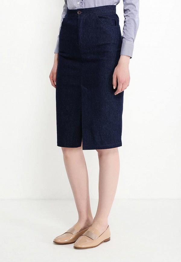 женская прямые юбка cocos, синяя