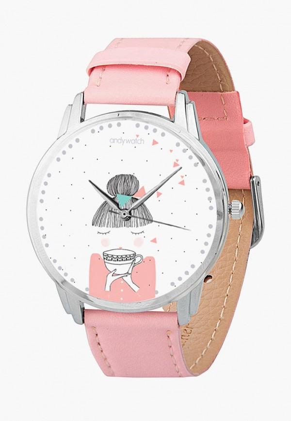 мужские часы andywatch, розовые
