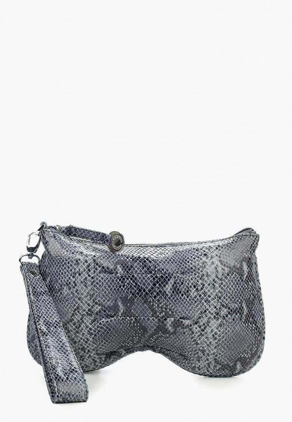 женский клатч franchesco mariscotti, серый
