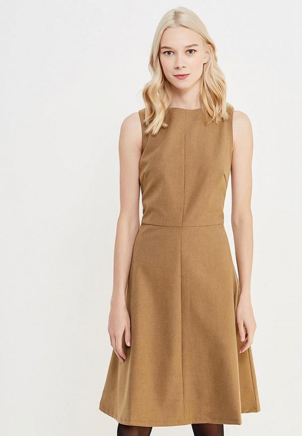 женское платье миди cocos, коричневое