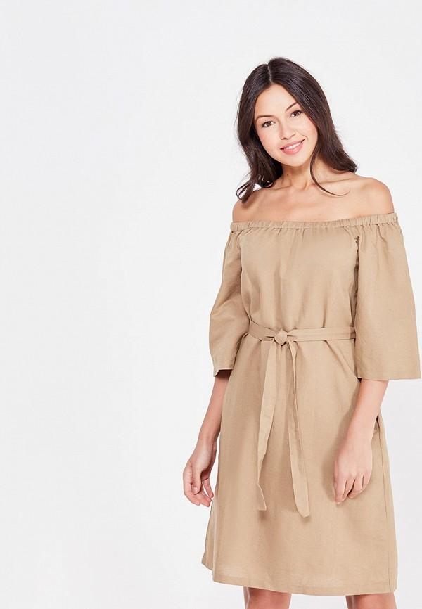 женское повседневные платье cocos, коричневое