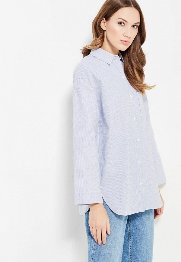 женская рубашка с длинным рукавом cocos, голубая