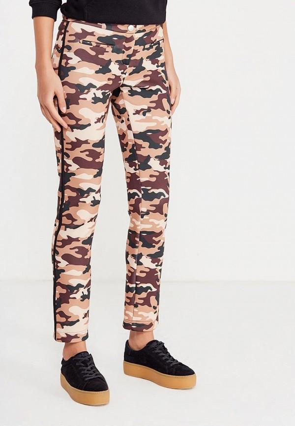 женские зауженные брюки ли-лу, коричневые