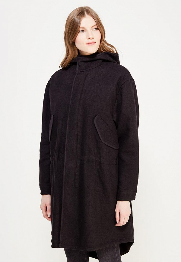женское пальто ли-лу, черное