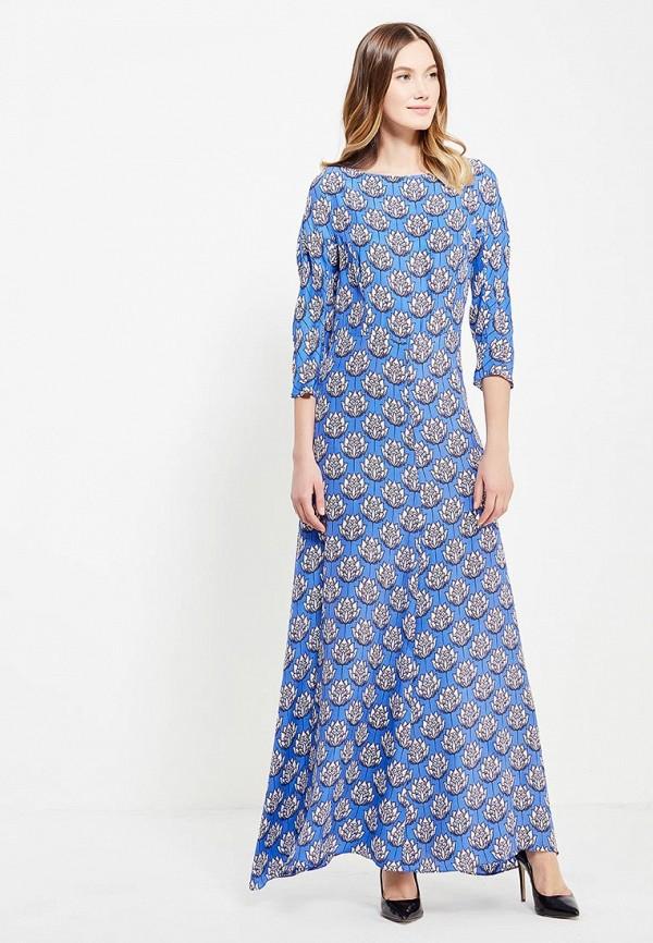 женское вечерние платье ли-лу, синее