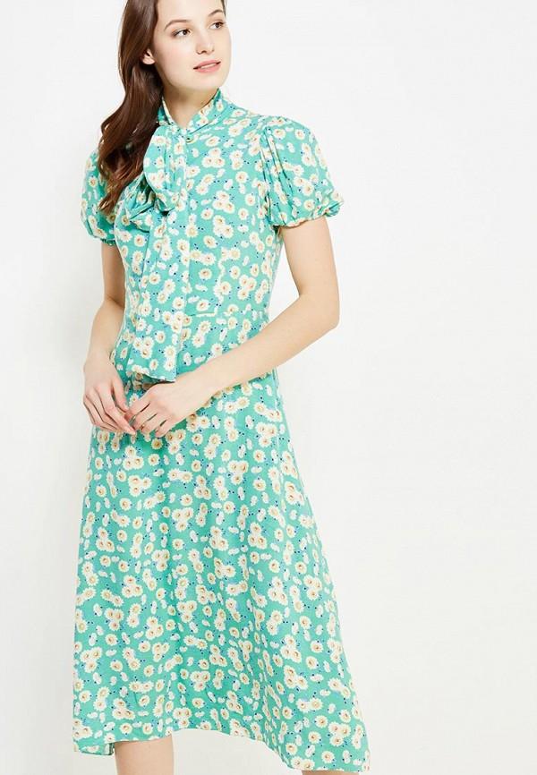 женское повседневные платье ли-лу, бирюзовое
