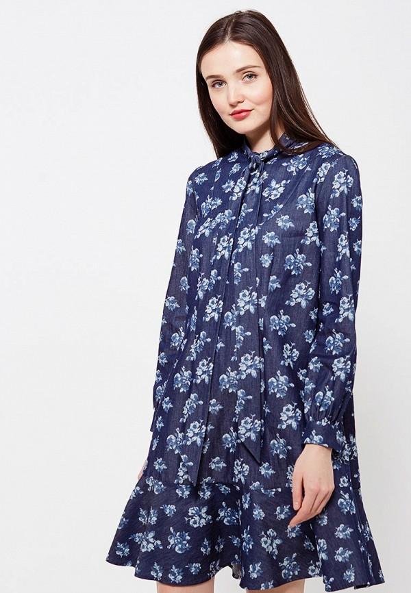 женское повседневные платье ли-лу, синее
