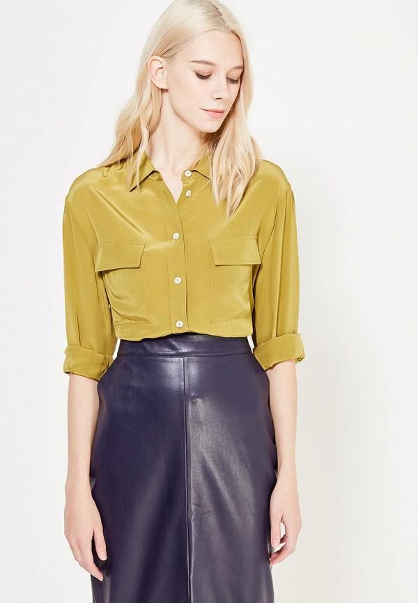 женская блузка ли-лу, зеленая