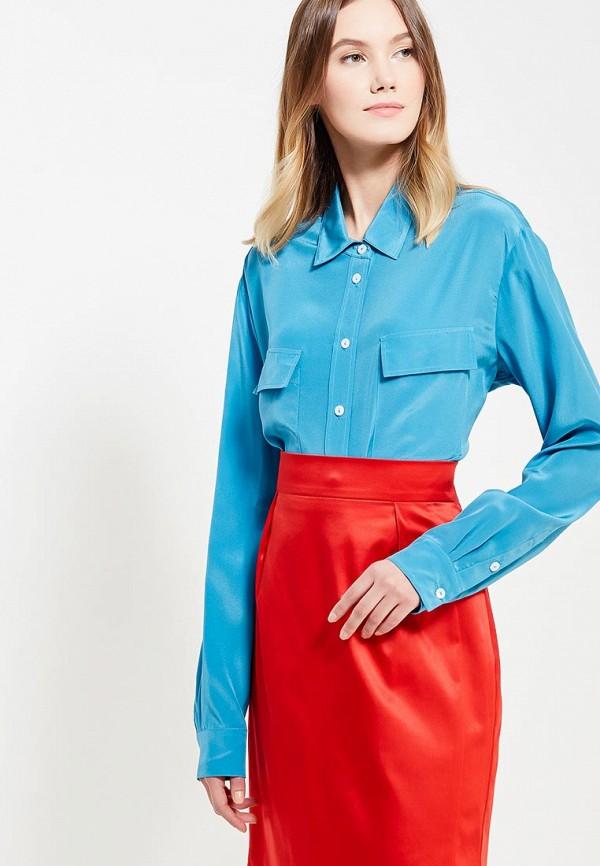 женская блузка ли-лу, голубая