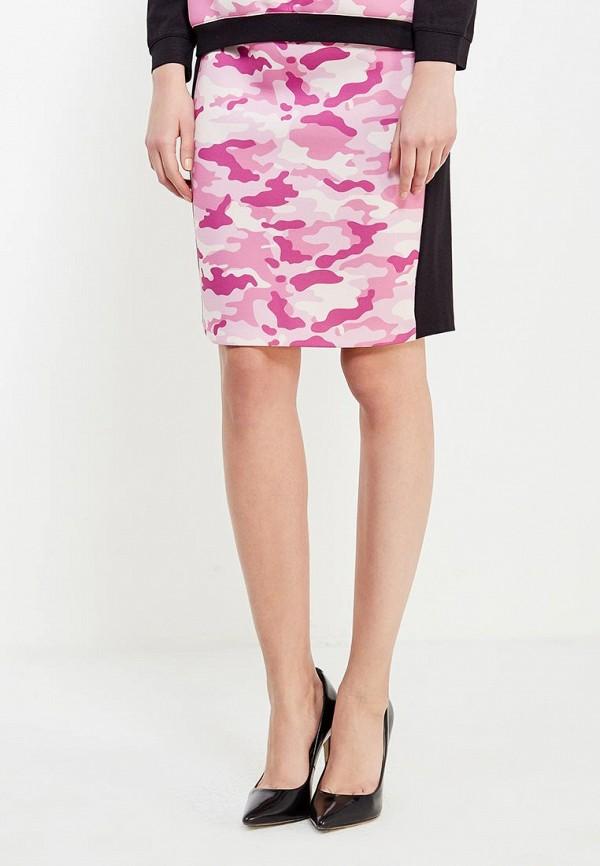 женская прямые юбка ли-лу, розовая